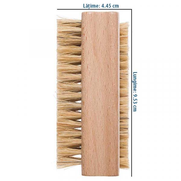 Perie naturala pentru curatarea unghiilor, peri moi, Redecker 2