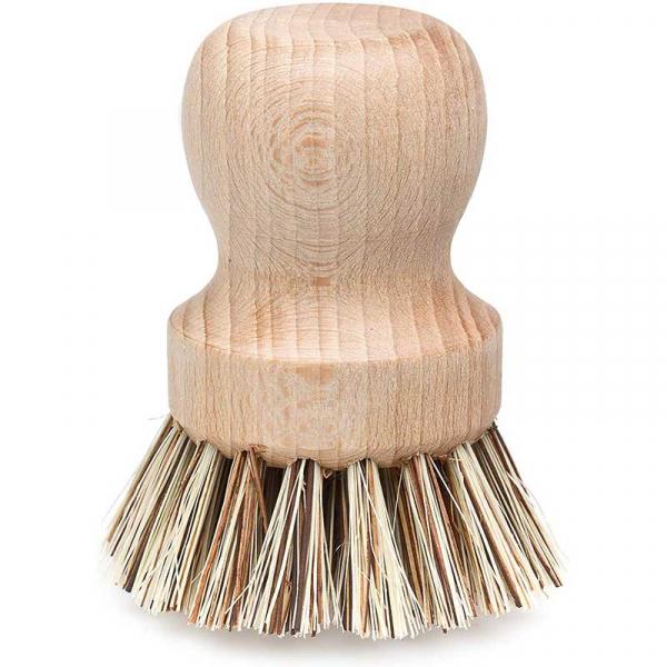 Perie din fibre naturale pentru curățarea oalelor, Redecker 0