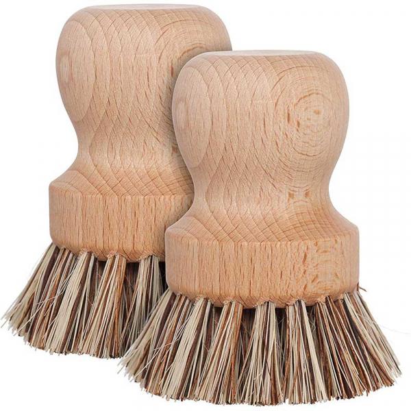 Perie din fibre naturale pentru curățarea oalelor, Redecker 1