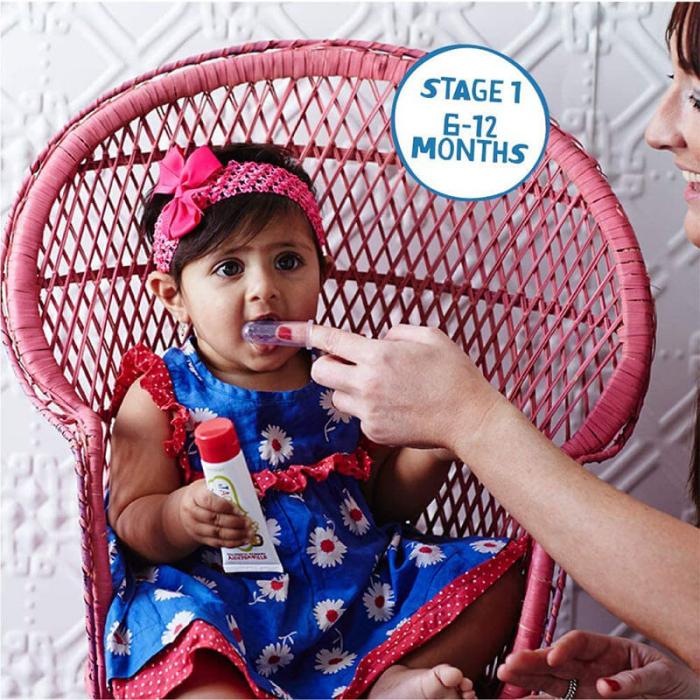 Periuță de dinți Degetar pentru bebeluși 6-12 luni | Jack N' Jill, 2 buc [4]