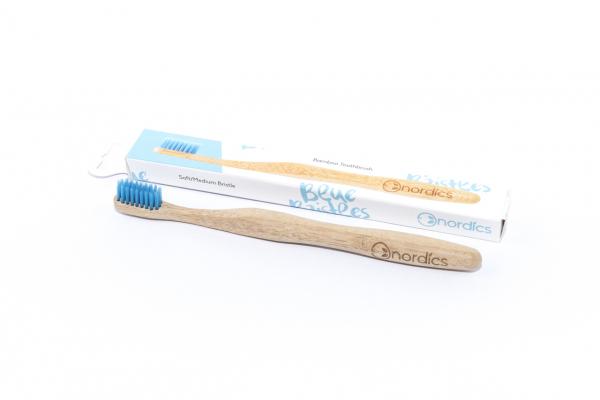 Periuta de dinti din bambus, pentru adulti, Nordics - albastru [1]