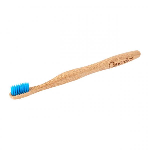 Periuta de dinti din bambus, pentru adulti, Nordics - albastru [0]