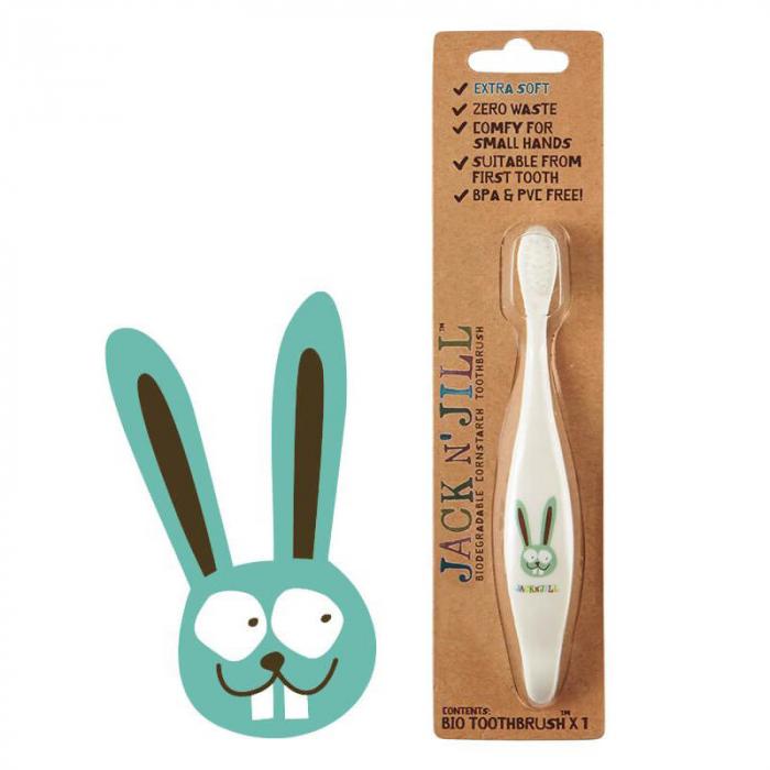 Periuta de dinti ECO pentru bebe si copii, Bunny, Jack n' Jill [0]