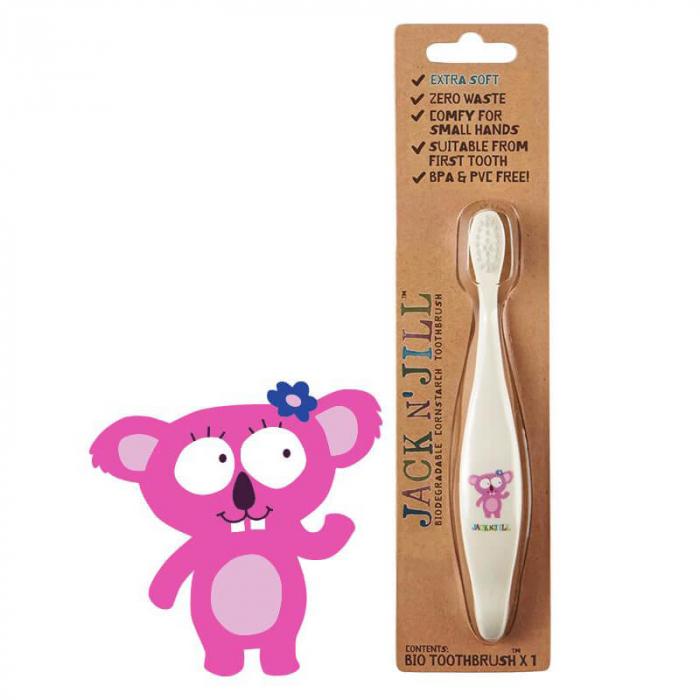 Periuta de dinti ECO pentru bebe si copii, Koala, Jack n' Jill 0