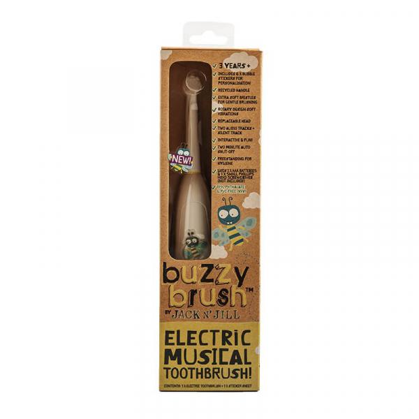 Periuta de dinti electrica muzicala pentru copii, Buzzy Brush, Jack n' Jill 1