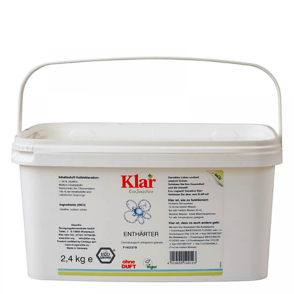 Pudra naturala anticalcar, fara parfum, Klar, 2.4 kg 0