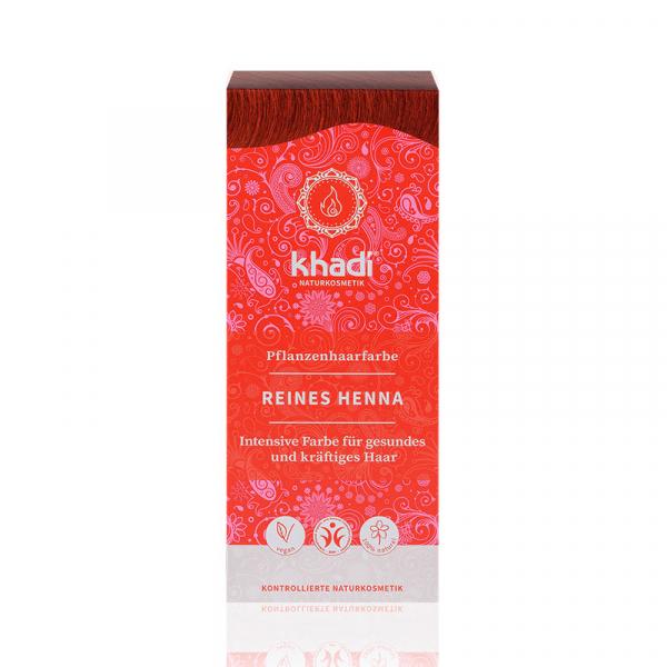 Pure Henna, vopsea de par naturala - Rosu Pur, Khadi, 100g 0