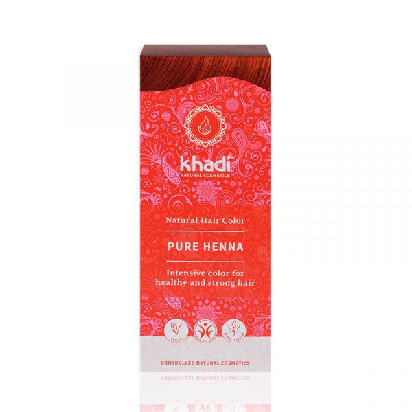 Pure Henna, vopsea de par naturala - Rosu Pur, Khadi, 100g 1