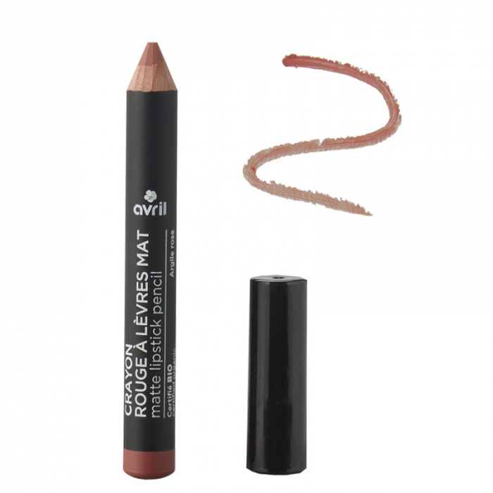 Ruj creion mat Argile rose, certificat organic | Avril [0]