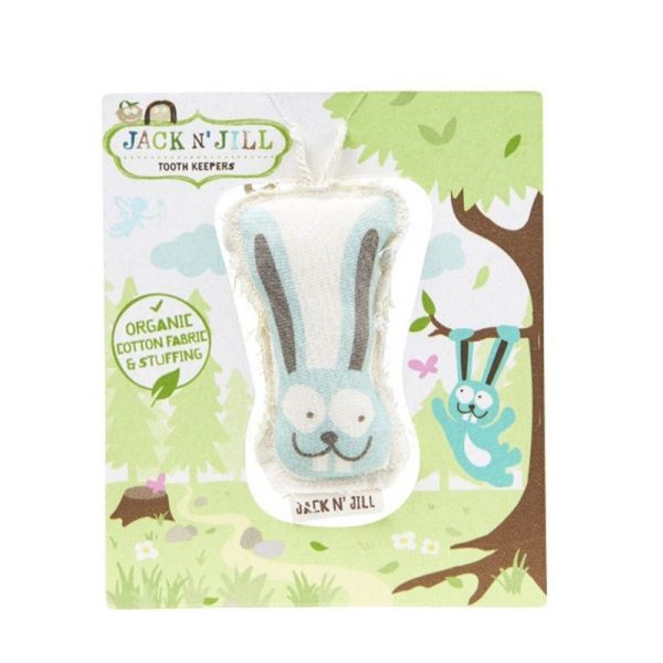 Saculet din bumbac organic pentru pastrarea dintilor de lapte, Bunny, Jack n' Jill 0