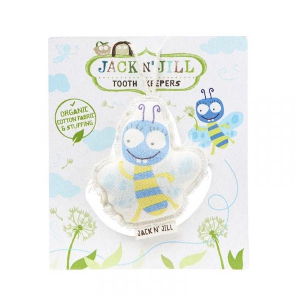 Saculet din bumbac organic pentru pastrarea dintilor de lapte, Buzzy, Jack n' Jill 0