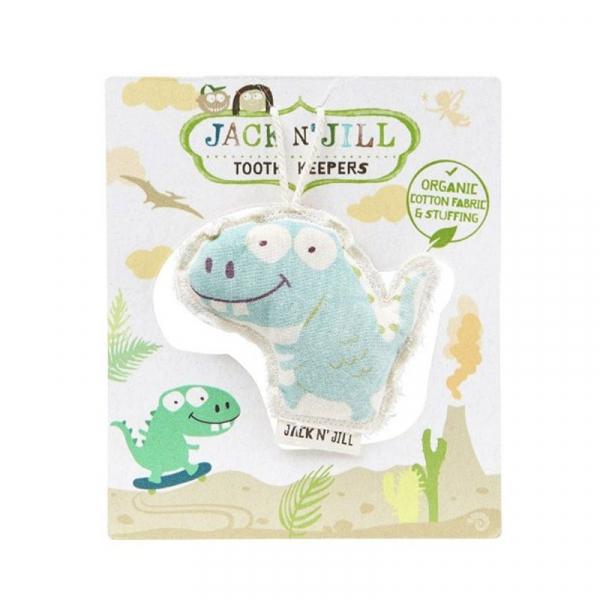 Saculet din bumbac organic pentru pastrarea dintilor de lapte, Dino, Jack n' Jill 0