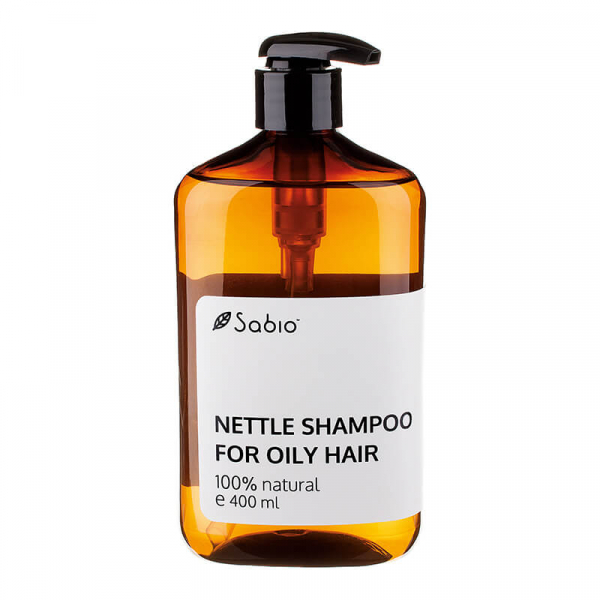 Sampon natural cu urzica pentru par gras Sabio Cosmetics 0