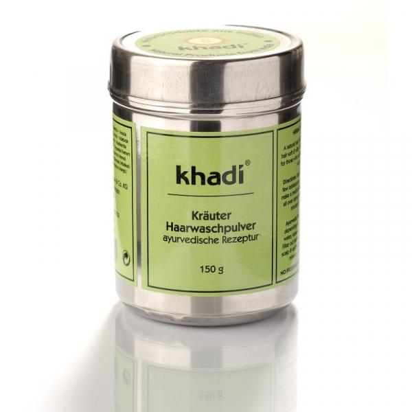 Sampon pudra cu amla, reetha si shikakai, Khadi, 150g 0