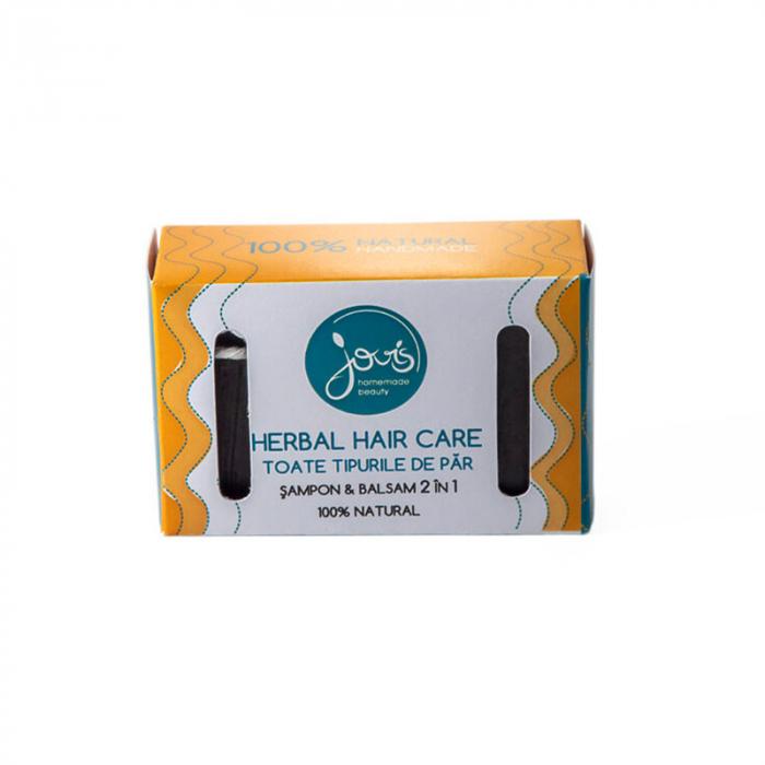 Șampon și balsam solid, Herbal Hair Care 2 în 1 | Jovis, 100g [1]