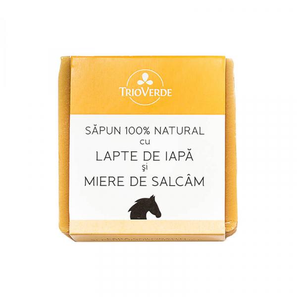 Sapun Natural cu Lapte de Iapa si Miere de Salcam, Trio Verde, 110g 0