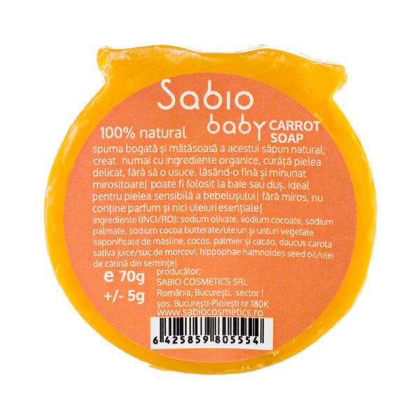 Sapun natural cu morcovi pentru bebelusi, Sabio Baby 3