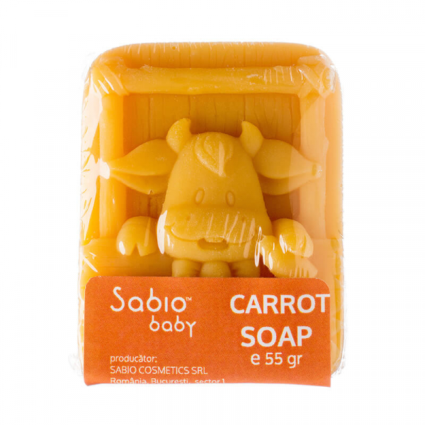 Sapun natural cu morcovi pentru bebelusi, Sabio Baby 1