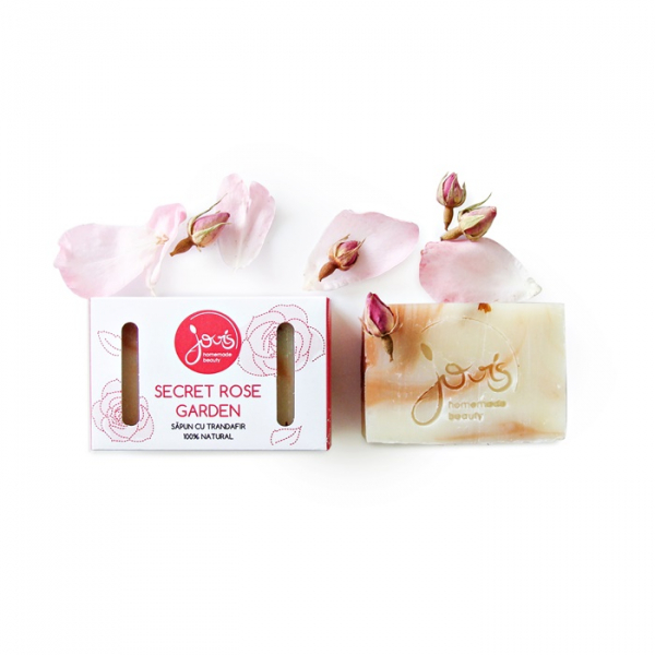 Sapun natural Secret Rose Garden, Jovis, 100g