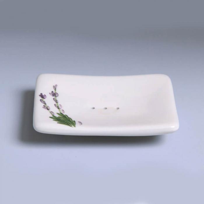 Savoniera ceramica pictata manual - Lavanda