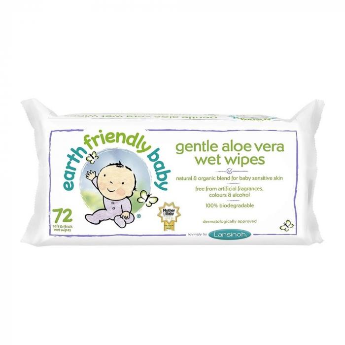Servetele umede cu musetel si aloe vera | Earth Friendly Baby [0]