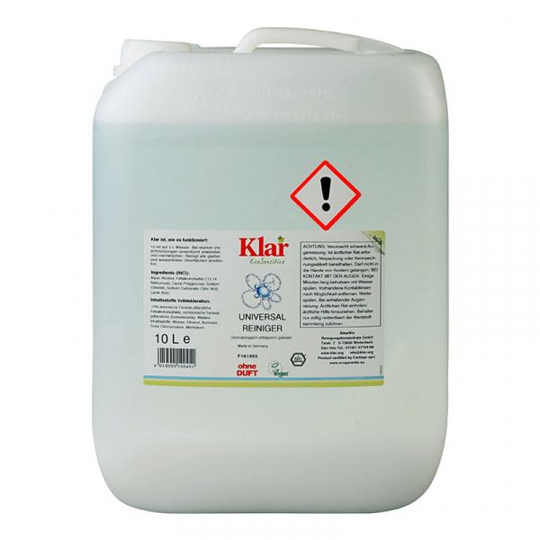 Soluție bio universală fără parfum, Klar, 10 l 0