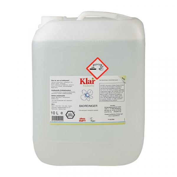 Soluție bio suprafețe baie, fără parfum, Klar, 10 l 0