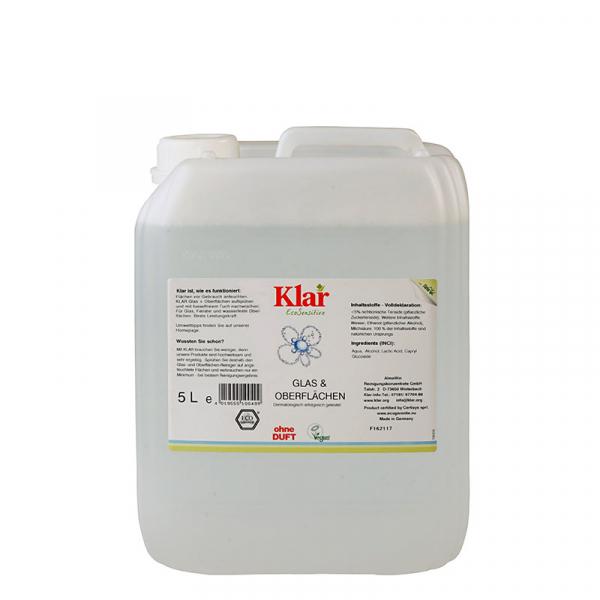Solutie ecologica pentru geamuri si alte suprafete, fara parfum, Klar EcoSensitive, 500ml 1