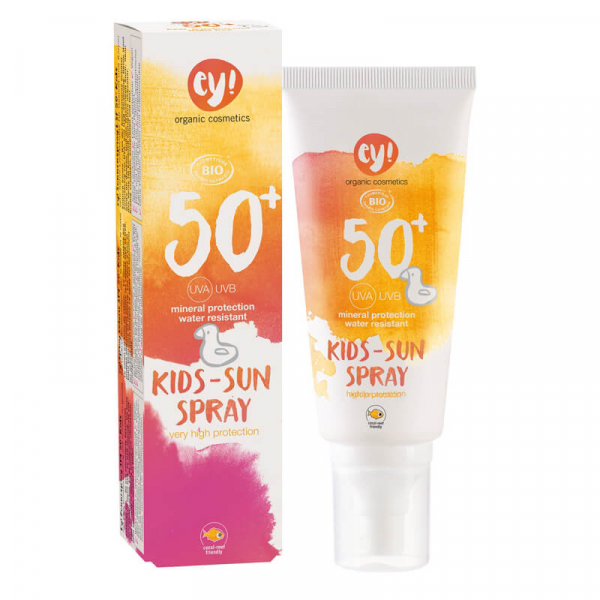 Spray bio protectie solara bebe si copii FPS 50, ey! Eco Cosmetics, 100ml 0