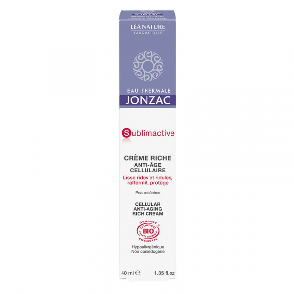 Sublimactive - Crema antirid ten normal-uscat, Jonzac, 40ml 0