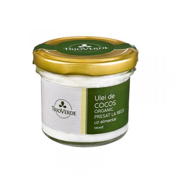 Ulei de cocos alimentar, organic, virgin, Trio Verde, 125ml 0