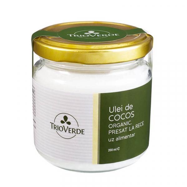 Ulei de cocos alimentar, organic, virgin, Trio Verde, 200ml 0