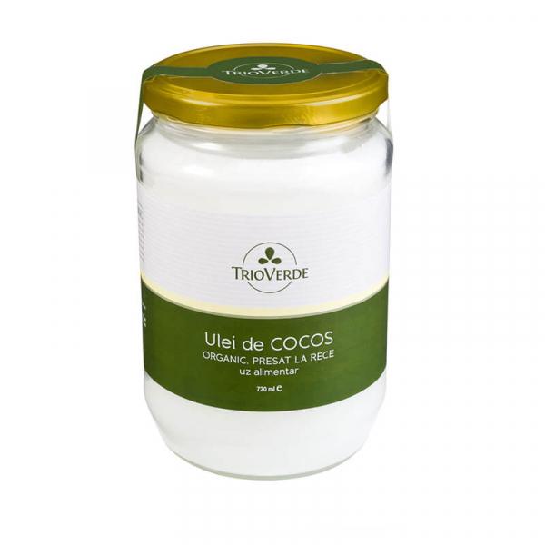 Ulei de cocos alimentar, organic, virgin, Trio Verde, 720ml 0