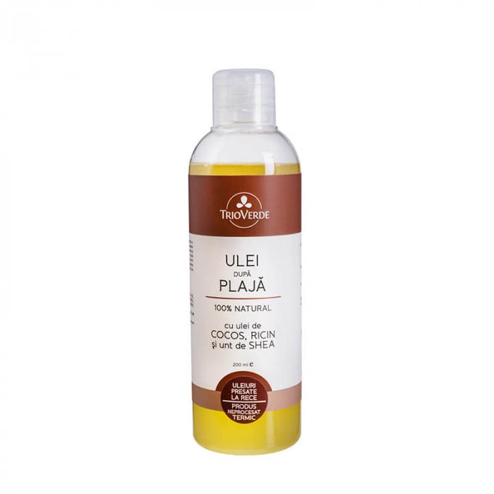 Ulei dupa plaja natural cu ulei de Cocos, Ricin si Unt de Shea 200ml Trio Verde [0]