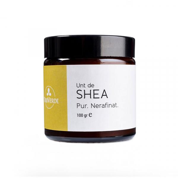 Unt de Shea organic, pur, nerafinat, Fair Trade, Trio Verde, 100g