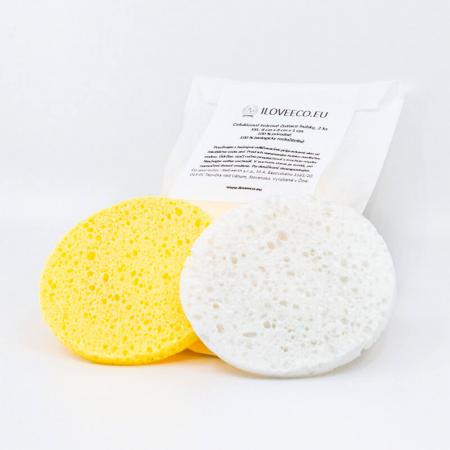 2 x Burete de celuloză pentru curățarea tenului, I Love Eco0