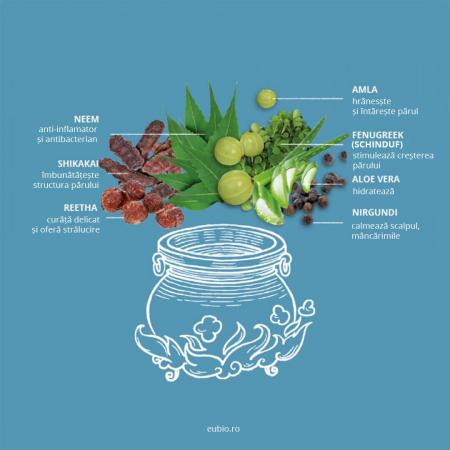 Șampon elixir antimătreață, Neem Balance | Khadi, 200 ml4