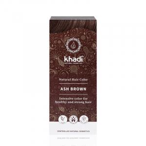 Ash Brown, vopsea de par naturala - Saten Cenusiu, Khadi, 100g0