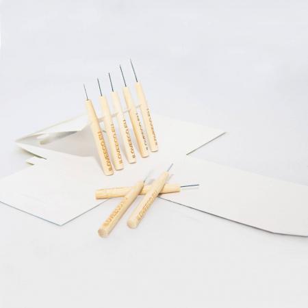 Periuțe interdentare din bambus, cutie cu 5 buc, 0.8 mm, I Love Eco5