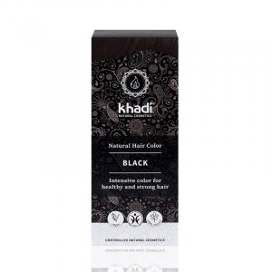 Black,vopsea de par naturala - Negru, Khadi, 100g1