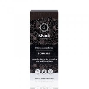 Black,vopsea de par naturala - Negru, Khadi, 100g0