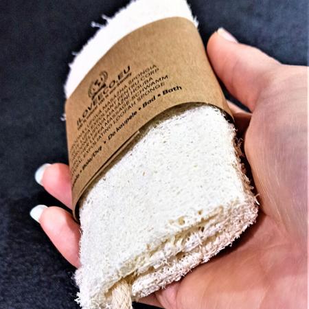 Burete lufa exfoliant pentru baie și masaj | Iloveeco2