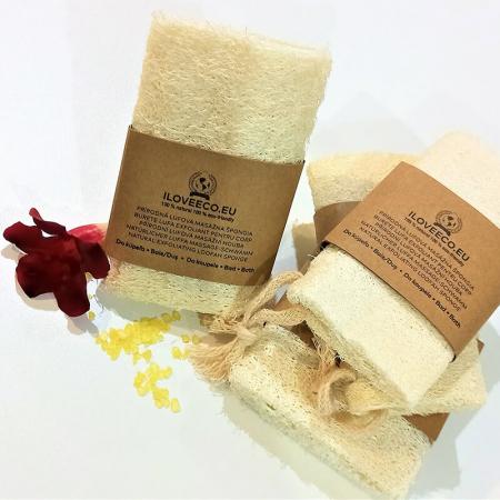 Burete lufa exfoliant pentru baie și masaj | Iloveeco4