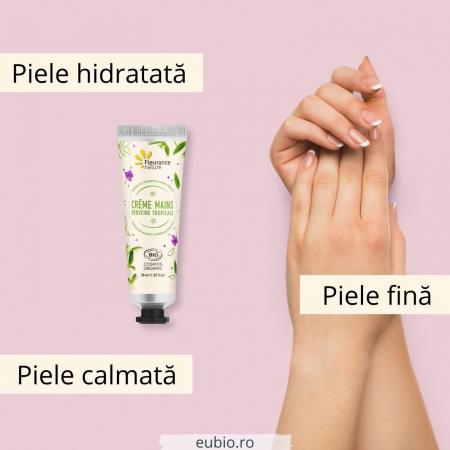 Cremă de mâini bio cu verbină tropicală | Fleurance Nature, 30ml [2]