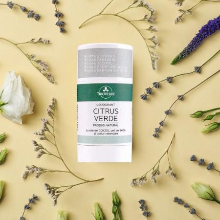 Deodorant natural cu Citrus Verde, Trio Verde, 70g [2]