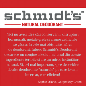 Deodorant natural & vegan Schmidt's, Sensitive Skin, Geranium Flower, Stick, 92g2