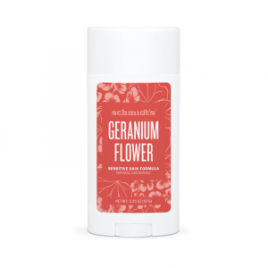 Deodorant natural & vegan Schmidt's, Sensitive Skin, Geranium Flower, Stick, 92g0