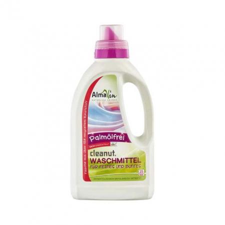 Detergent bio lichid pentru rufe, cu nuci de sapun, AlmaWin, 750 ml
