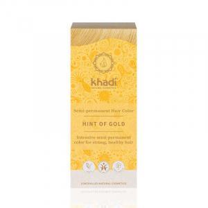 Golden Hint, vopsea de păr naturală - Blond Auriu, Khadi, 100g1