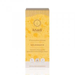 Golden Hint, vopsea de păr naturală - Blond Auriu, Khadi, 100g0